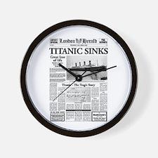 "London Herald ""Titanic SInks Wall Clock"