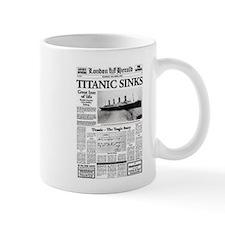"London Herald ""Titanic SInks Mug"