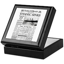 "London Herald ""Titanic SInks Keepsake Box"