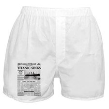 "London Herald ""Titanic SInks Boxer Shorts"
