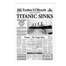 "London Herald ""Titanic SInks Postcards (Packa"