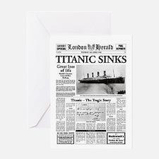 "London Herald ""Titanic SInks Greeting Card"