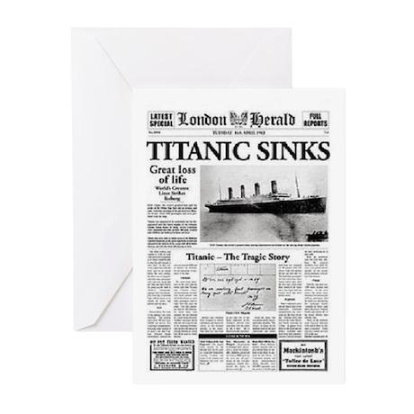 "London Herald ""Titanic SInks Greeting Cards ("