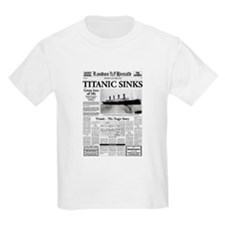 "London Herald ""Titanic SInks T-Shirt"