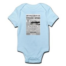 "London Herald ""Titanic SInks Infant Bodysuit"