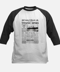 "London Herald ""Titanic SInks Kids Baseball Jersey"