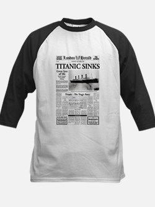 "London Herald ""Titanic SInks Kids Baseball Jersey"