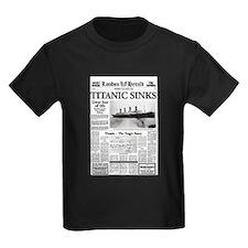 "London Herald ""Titanic SInks T"