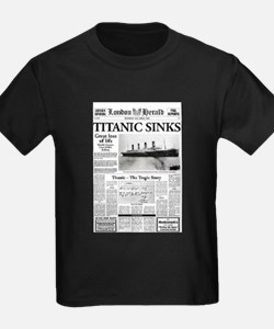 "London Herald ""Titanic SInks T"