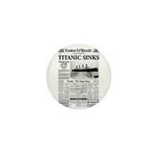 "London Herald ""Titanic SInks Mini Button (10 pack)"