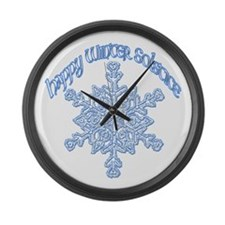 Happy Winter Solstice Large Wall Clock