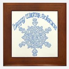 Happy Winter Solstice Framed Tile