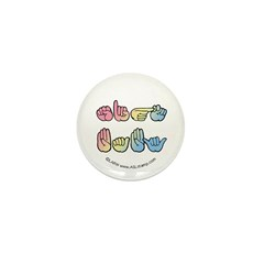 Pastel SIGN BABY Mini Button (100 pack)