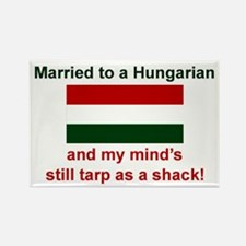 Married To A Hungarian Rectangle Magnet