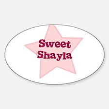 Sweet Shayla Oval Decal