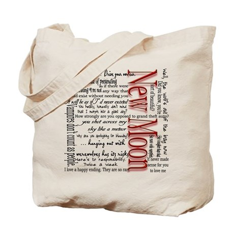 New Moon Movie Quotes Tote Bag