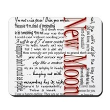 New Moon Movie Quotes Mousepad