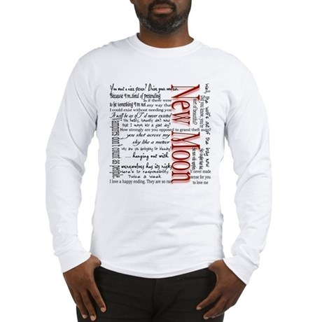 New Moon Movie Quotes Long Sleeve T-Shirt