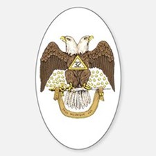 Scottish Rite 32 Oval Decal