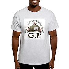I'M G.I. THEY LUV ME LONG TIME Ash Grey T-Shirt