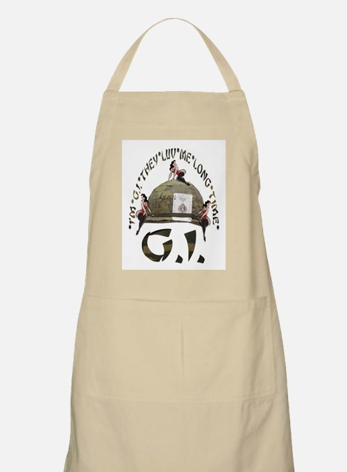 I'M G.I. THEY LUV ME LONG TIME BBQ Apron