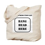 Bang Head Here Tote Bag