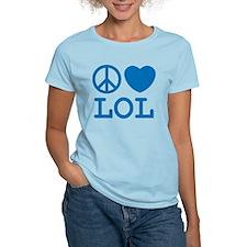 Peace, Love, & LOL Tee (Women's) Light Colors