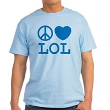 Peace, Love, & LOL Tee (Men's) Light Colors
