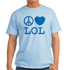 Peace, Love, & LOL Tee (Men's) Light Colors