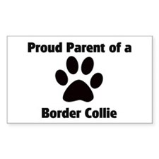 Proud: Border Collie Rectangle Decal