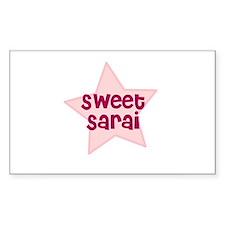 Sweet Sarai Rectangle Decal