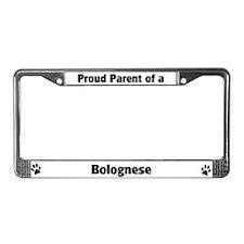Proud: Bolognese License Plate Frame