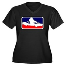 Unique Dj Women's Plus Size V-Neck Dark T-Shirt