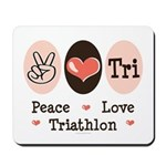 Peace Love Tri Mousepad