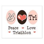Peace Love Tri Small Poster