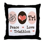 Peace Love Tri Throw Pillow