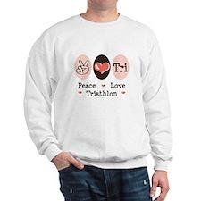 Peace Love Tri Sweatshirt