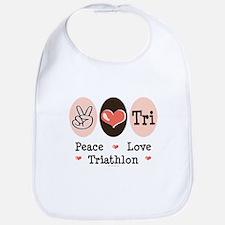 Peace Love Tri Bib