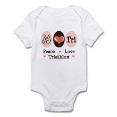 Peace Love Tri Infant Bodysuit