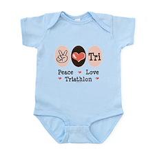 Peace Love Tri Infant Bodysuit