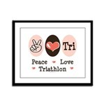 Peace Love Tri Framed Panel Print