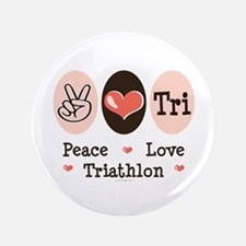 "Peace Love Tri 3.5"" Button (100 pack)"