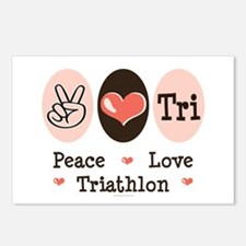 Peace Love Tri Postcards (Package of 8)