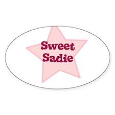 Sweet Sadie Oval Decal