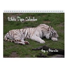 White Tiger Wall Calendar