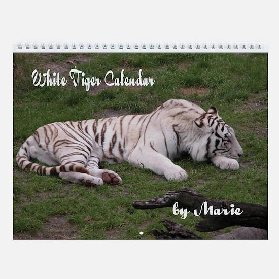 White Tiger Wall Calendar