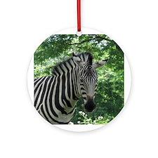 Zebra Ornament (Round)