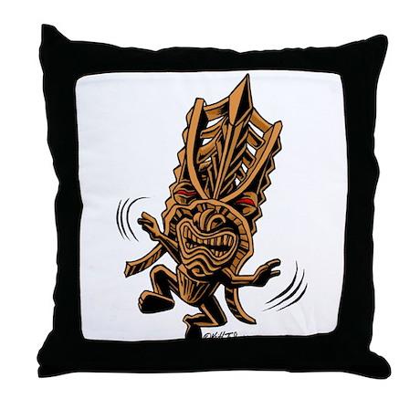 Dancing Tiki Throw Pillow