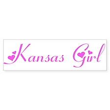 Kansas Girl Bumper Car Sticker