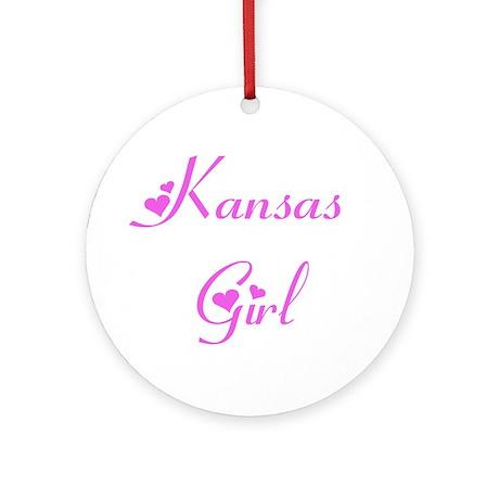 Kansas Girl Ornament (Round)